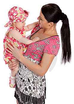 A Mother Hold His Infant Child Royalty Free Stock Photos - Image: 5450918
