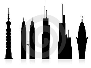 Skyscrapers Royalty Free Stock Image - Image: 5451106