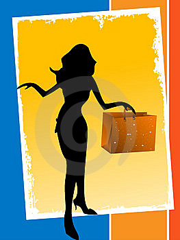 Slim Lady With Bag Stock Photo - Image: 5452660