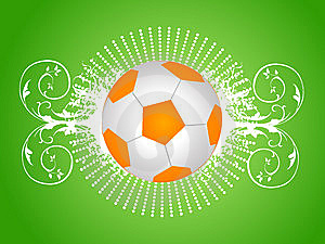 Football On Floral Stock Images - Image: 5453134