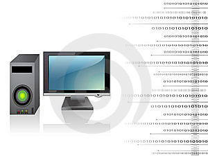 Cpu With Monitor Stock Image - Image: 5453221