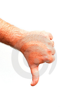 Thumbs down Stock Image