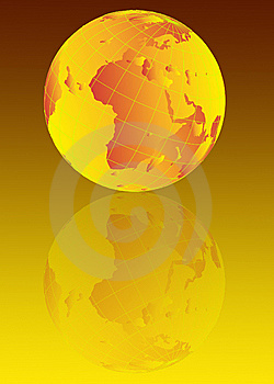 Earth Globe Illustration Royalty Free Stock Images - Image: 5453419