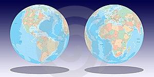 Earth Globe Illustration Royalty Free Stock Images - Image: 5453429