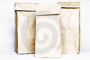 Paper bags team Royalty Free Stock Photos