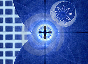 Blue Grid And Movement Royalty Free Stock Image - Image: 5453906