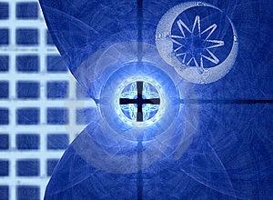 Blauwe Net En Beweging Royalty-vrije Stock Afbeelding - Afbeelding: 5453906