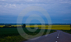 Rape Fields Stock Image - Image: 5458301