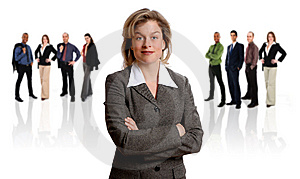 Businesswoman and her Team Free Stock Photos