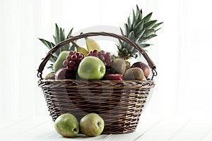 Basket Of Fruit Royalty Free Stock Photography - Image: 5458707