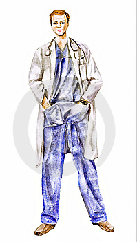 Doctor (physician Trust A Man Who) Illustration Stock Photo - Image: 5459310