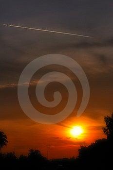 Jet Trails Royalty Free Stock Photo - Image: 5459345