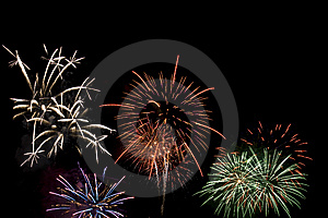Fireworks exploding Stock Photo