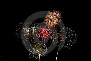 Fireworks explosion Royalty Free Stock Images