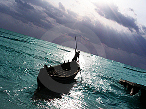 Fishing Boat In The Sea Stock Photo - Image: 5460850