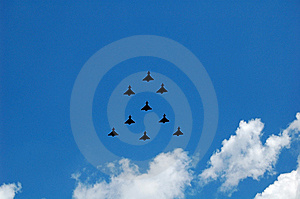 Fighter Planes Royalty Free Stock Photography - Image: 5464017