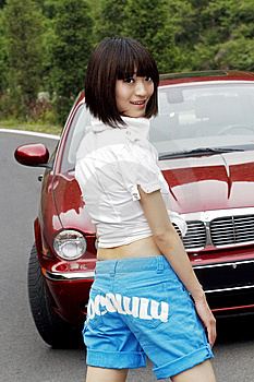 The Beauty And Beautiful Car. Stock Images - Image: 5466034