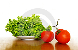 Lettuce And Tomatoes Stock Photo - Image: 5471960