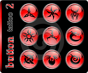 Red Buttons, Different Symbols Royalty Free Stock Photo - Image: 5472335
