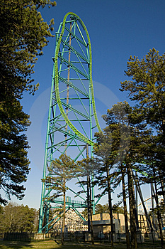 Roller Coaster Royalty Free Stock Images - Image: 5476599