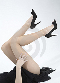 Legs of a woman Free Stock Photo