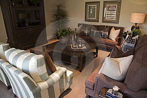 Luxury home living room Royalty Free Stock Image
