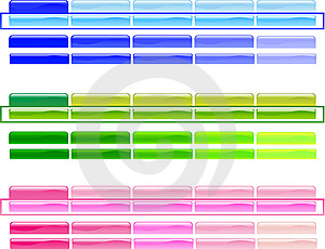Horizontal Menu Buttons 1 Royalty Free Stock Images - Image: 5486299