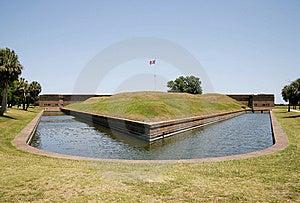 Fort Pulaski Moat Stock Image - Image: 5487891