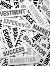 Business new headlines Royalty Free Stock Photo