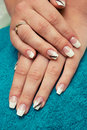 French manicure. Royalty Free Stock Photography