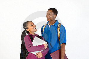 Two Laughing Students - Horizontal Stock Photos