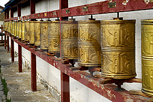 Prayer Wheels Royalty Free Stock Photo - Image: 5491305