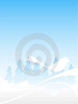 Bird On Swirls Stock Photo - Image: 5492840