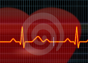Cardiogram illustration Stock Images