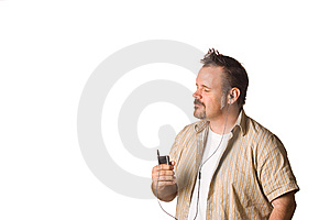 Man Listening To Music With Expression Royalty Free Stock Photos - Image: 5499368