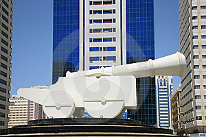 Large Cannon Stock Photography - Image: 5499712