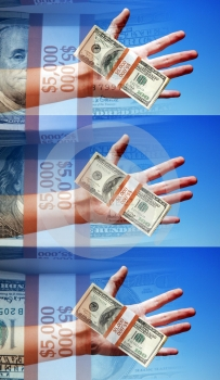 Concept Photo, Hands Holding Money, Winners, Payers, Takers, Sig Stock Photo - Image: 554820
