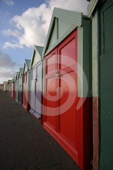 Huts In A Row Stock Image - Image: 556961