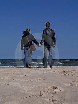 Walking On The Beach Stock Photography - Image: 559432