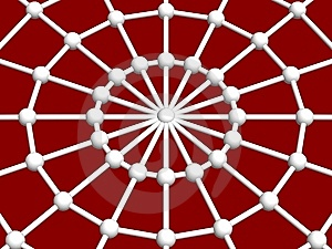 Spider Web And Joint Royalty Free Stock Photos - Image: 5500768