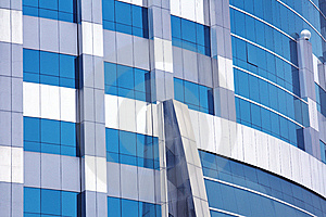 Blue Corporate Building Stock Image - Image: 5503161
