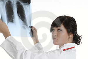 X-ray doctor Royalty Free Stock Images