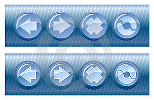 Set Of Vector Browser Buttons, On And Off Royalty Free Stock Image - Image: 5504836