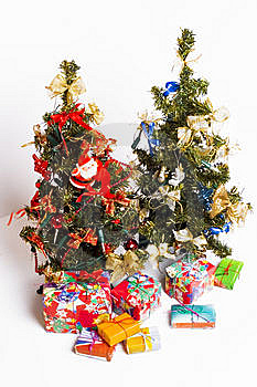 Christmas Trees And Presents Stock Photo - Image: 5512020