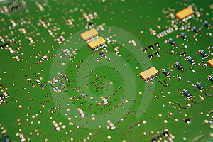 Circuit Board IC Royalty Free Stock Images - Image: 5514499