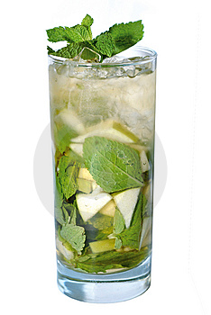 Cocktail with mint Stock Image
