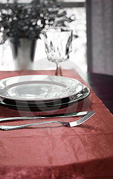Elegant Dinning Table Stock Photos - Image: 5517053