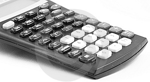 Calculator Against Blank Royalty Free Stock Image - Image: 5518866