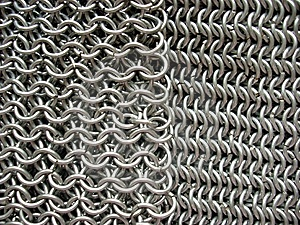 Two Different Patterns Of Antique Chain Mail Stock Images - Image: 5519464
