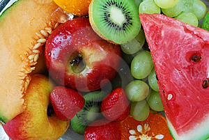 Colorful Fresh Group Of Fruits Stock Images